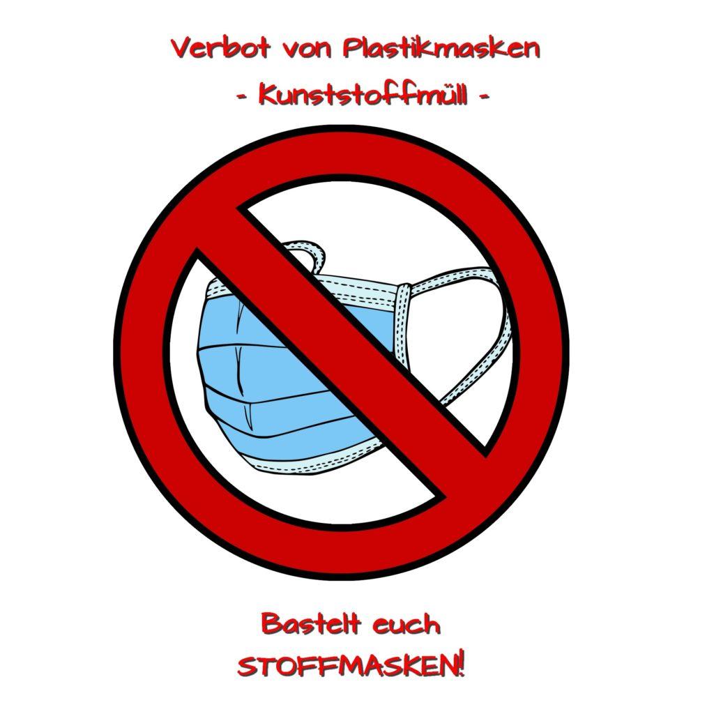 800 Tonnen Plastikmüll jeden Tag durch Einwegmasken!